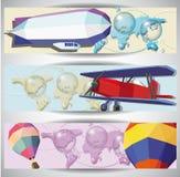 Aero- banderas del Web de la vendimia Imagen de archivo