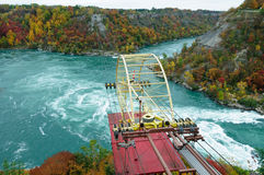 Aero car crossing the Whirlpool of Niagara River Royalty Free Stock Images