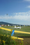 Aero-Club field and motor gliders in Germany Stock Photography