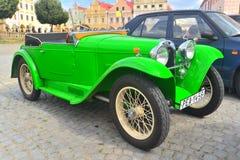 Aero- coche viejo en Telc, República Checa Fotografía de archivo