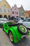 Aero- coche viejo en Telc, República Checa Imagen de archivo libre de regalías