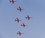 Aero- demostración de la India Imagen de archivo libre de regalías