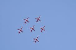 Aero- demostración de la India Foto de archivo libre de regalías
