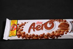 Aero die berühmte Schokoladenmarke von Nestle! lizenzfreies stockfoto