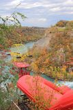 Aero Drahtseilbahn über Niagara Stockbilder