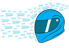 Aero dynamic helmet. Conceptual illustration with an aero dynamic helmet Stock Image