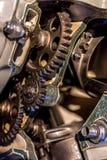 Aero- engranajes del motor Imágenes de archivo libres de regalías