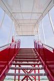 Aero- escaleras en el aeropuerto de Suvarnabhumi, Tailandia Imagen de archivo