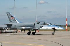 Aero- instructor del jet del albatros L-39 de la fuerza aérea húngara Imagen de archivo libre de regalías