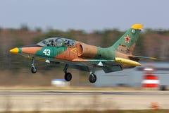 Aero L-39C Albatros of russian air force landing at Kubinka air force base. stock images