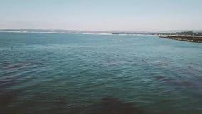 Aero, oceaanmeningen en stranden met het hotel stock video