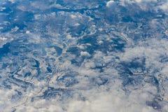 Aero- opinión del cielo tomada del avión Foto de archivo