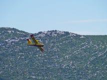 The aero plane of the fire guard Stock Photos