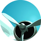 Aero plane's  Propeller Royalty Free Stock Photos