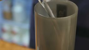Aero press coffee preparation. Close up. Slow motion. Professional shot in HD resolution. 089. You can use it e.g. in your commercial video, business stock video footage