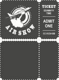 Aero przedstawienie bilet ilustracji