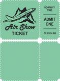 Aero przedstawienie bilet ilustracja wektor