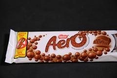 Aero sławny czekoladowy gatunek od Nestle! zdjęcie royalty free
