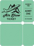Aero show ticket. Vector illustration ticket countermark for aviation show simple Stock Photography