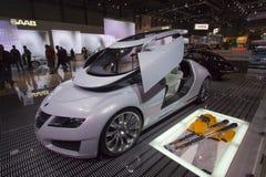 Aero--x opinión de parte delantera de Saab Imágenes de archivo libres de regalías