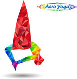 Aero Yoga Royalty Free Stock Images