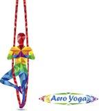 Aero Yoga Bild von Dreiecken Stockbild