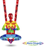 Aero Yoga. Image of triangles Stock Photos