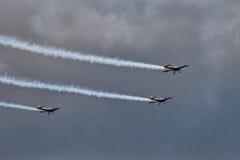 aerobatic лезвия показывают команду Стоковые Изображения RF