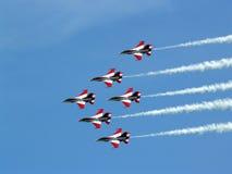 aerobatic команда singapore черных рыцарей Стоковые Изображения RF