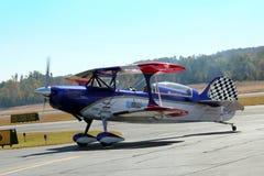 aerobatic плоское эффектное выступление Стоковое Фото