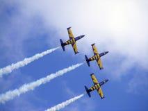 aerobatic прибалтийская команда latvian пчел Стоковое Изображение RF