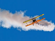 Aerobatic aeroplane Royalty Free Stock Image