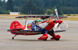 Aerobatic airplane, Lewis-McChord Air Expo Royalty Free Stock Images