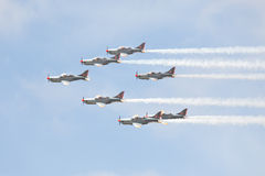 Aerobatic airplanes at airshow Stock Image