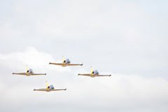 Aerobatic airplanes at airshow Stock Photos