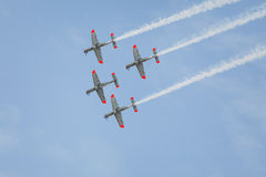 Aerobatic airplanes at airshow Stock Photography