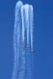 Aerobatic Bildschirmanzeige Stockbilder