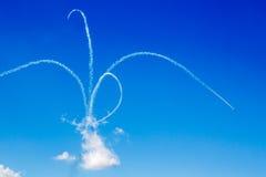 Aerobatic Bremsung Stockbild
