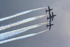 Aerobatic Düsenflugzeuge Stockfotos
