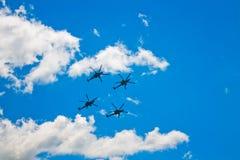 ` Aerobatic de Berkut do ` da equipe Fotos de Stock Royalty Free