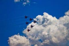 ` Aerobatic de Strizhi do ` do ` de Swifts do ` da equipe Imagem de Stock