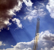 Aerobatic demonstration team Patrulla Aquila royalty free stock photography