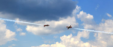 Aerobatic demonstration team Patrulla Aquila royalty free stock photo