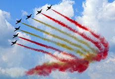 Aerobatic demonstration team Patrulla Aquila royalty free stock image