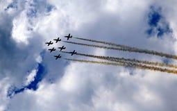 Aerobatic Demonstrationsteam Patrulla Aquila Lizenzfreie Stockbilder