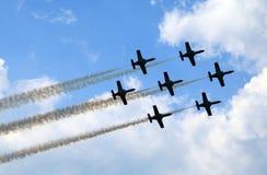 Aerobatic Demonstrationsteam Patrulla Aquila Lizenzfreies Stockfoto