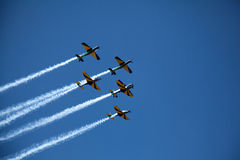 Aerobatic display on Brazil Independence Day Stock Photo