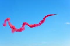 Aerobatic display plane from the United Arab Emirates team Stock Photo