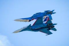 Free Aerobatic Display Team Russian Knights Stock Photography - 97102412
