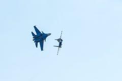 Free Aerobatic Display Team Russian Knights Stock Image - 97674181
